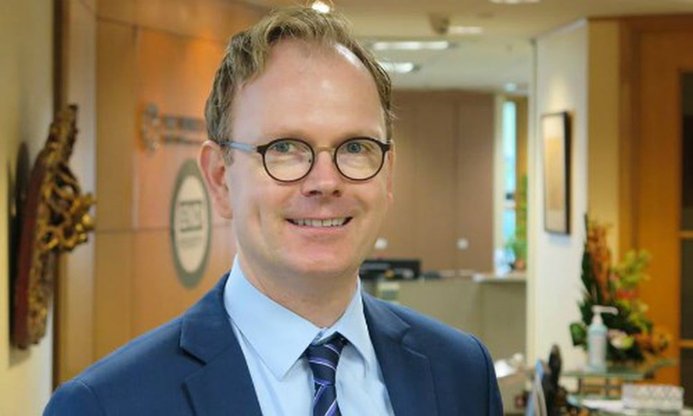 Ông Sebastian Eckhardt, chuyên gia kinh tế trưởng của World Bank tại Việt Nam.